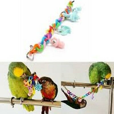 Bird Parrot Toys - Swing - Perch - Suspension Toy - Mineral - Bridge- Multi List