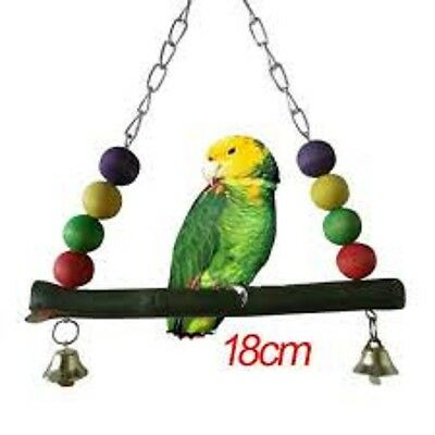 Bird Or Parrot Toy - Triangle Perch Toy - Wooden - Fun - Game - Bird Toy - New