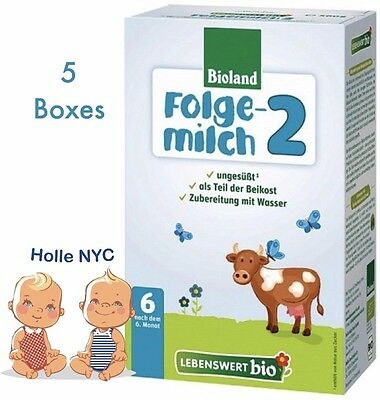 Holle Lebenswert Stage 2 Organic Formula,5 BOXES,500g 08/2018 FREE PRIORITY MAIL