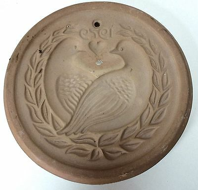 Hartstone Pottery 1979 Rare Doves Lovebirds Round Cookie Mold