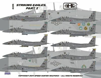 Speed Hunter Graphics 48006 1/48 decal F-15E Striking Eagles Revell