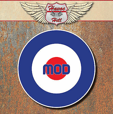 MOD Raf Laminated Stickers x2 80mm scooter Vespa motorbike / motorcycle decal