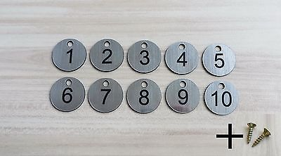 10x3cm Laser Engraved Number Discs, Table, Tags, Locker, Pub, Restaurant, Clubs