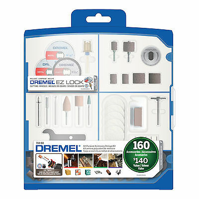 Dremel 710-08 160-Piece Multi-Surface All-Purpose Accessory Storage Kit