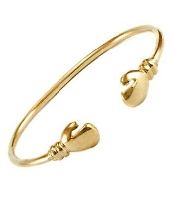 "Solid 9ct Gold Baby Bangle Boxing Glove Christening Hallmarked 5.5"" Free UK Post"