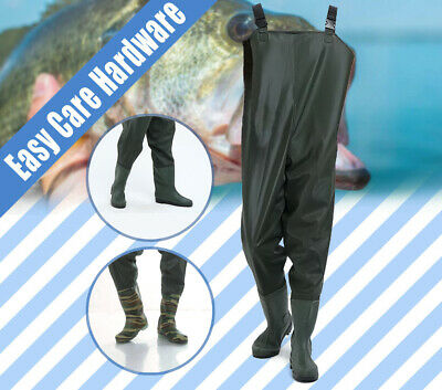 Chest Fishing Trousers PVC Outdoor Boots Waterproof Wader 40-46 EU 6.5-11.5 AU