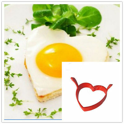 Creative Round Heart Shape Silicone Egg Frier Mold Gadget Pancake Ring Mould