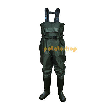 Waterproof PVC Chest Waders Size 6 - 13 Coarse Sea Fly Fishing Boat Farm Tackles