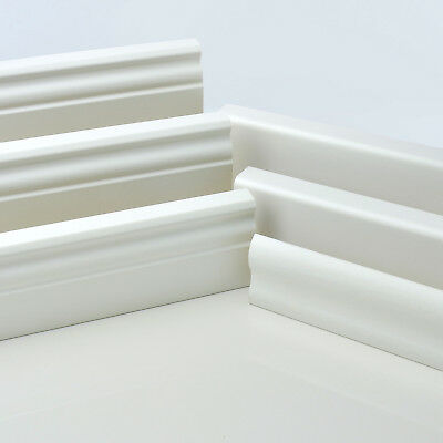 2.5m MDF SKIRTING BOARD 15x60 15x80 15x90 15x120 scotia trim trunking wall cover