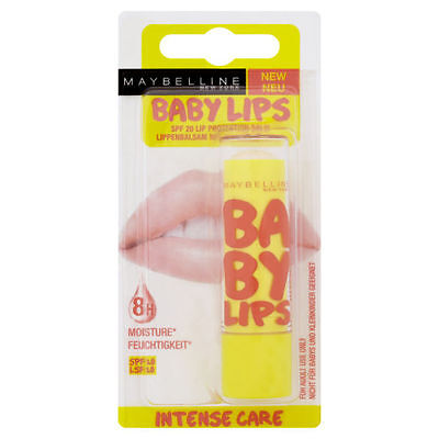 Maybelline Baby Lips Intense Care 8H Lip Balm SPF 20 Carded