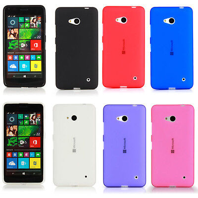 TPU Silicone Case For Microsoft Nokia Lumia 640 LTE -Gel Frosted Soft Cover Skin