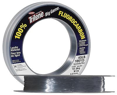Berkley Trilene Big Game Clear Fluorocarbon Leader-Saltwater,Carp All Sizes100yd