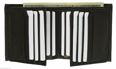 Mens Genuine Leather Bifold/Trifold 16+2 Card Slots 2 ID Windows Wallet Marshal®