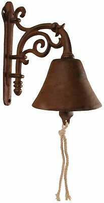 Shabby Vintage Style Cast Iron Garden Bell Door Chime Home Gift Ornament