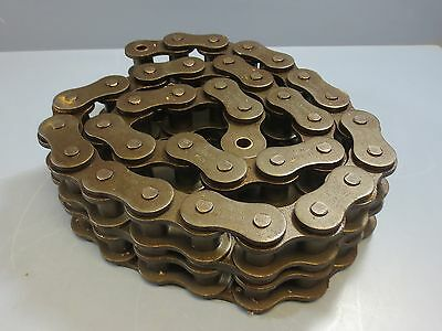 5' Section of UST US Tsubaki Double Strand Roller Chain 140-2RB C11262 New