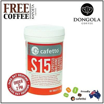 CAFETTO S15 Espresso Machine Cleaning Tablets Automatic Cleaner + KAPOETA Coffee