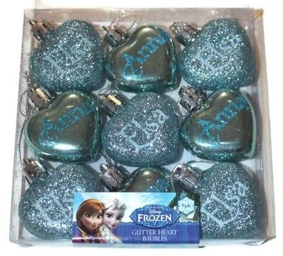 Sale!!! Disney Frozen Anna Elsa Christmas Tree Baubles Decorations Pack Of 9