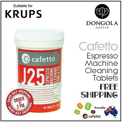 40 KRUPS J25 Super Automatic Espresso Coffee Machine Cleaning Tablets Cafetto
