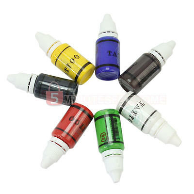 15ml/Bottle Unit 7 Color Tattoo Supply Inks Lining Shading Sets Kits Pigment