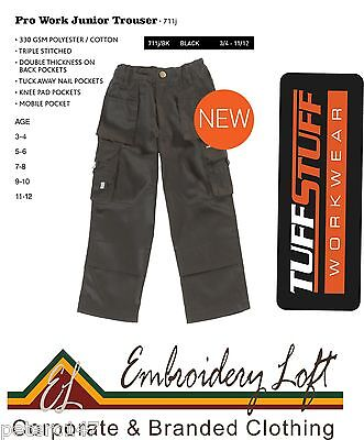 TUFFSTUFF Children's kids Cargo Trousers With Holster Pockets. Multi Pocket