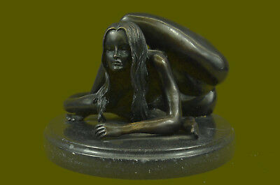 Hot Cast Limited Edition Numbered Yoga Lady Bronze Masterpiece Close Out Deal