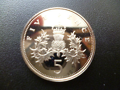 1986 Proof 5P Coin The 1986 5P Piece Was Only Issued For Use In Royal Mint Sets
