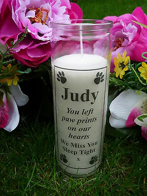 Personalised Pet Memorial Candle  - Wording of your choice - Paw Print Design