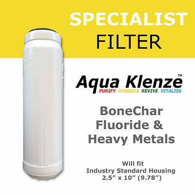 "Fluoride, Arsenic & Heavy metals Reduction Water Filter 2.5"" x 10"""