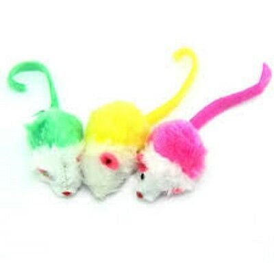 Small Fake Fur Mice For Cats - Toy - Play - Catnip Infused - Hours Of Fun