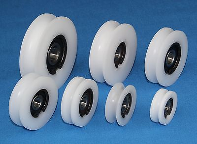 Precision Delrin Acetal Pulley Wheel with U groove Guiding Rail Choose Diameter
