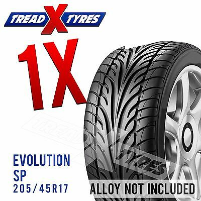 1x New 205/45R17 Evolution Tyre 205 45 17 Fitting Available Tyres