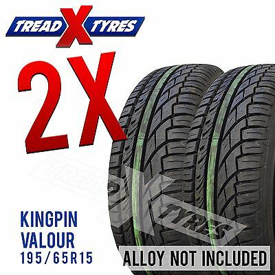 2x New 195/65r15 Kingpin Tyres Fitting Available 195 65 15 Tyres