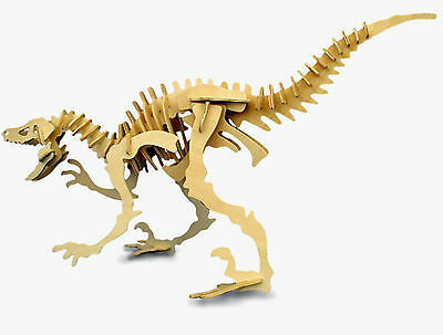 Velociraptor Dinosaur 3D Jigsaw Wooden Model Kit Jurassic Decorate Puzzle Gift