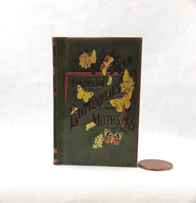 BUTTERFLIES AND MOTHS Illustrated Readable Book in 1:3 Scale Miniature Book