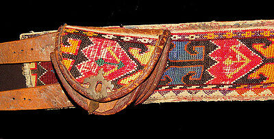 Antique Uzbek Silk Embroidery Belt