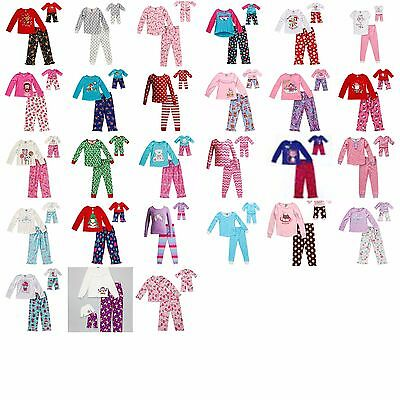 """Girl 4-14 and 18"""" Doll Matching Winter Pajamas Outfit fit American Girl Journey"""
