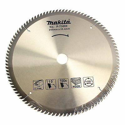 Makita P-73069 Tipped Saw Blade 100T Wood Work 10inch 255mm