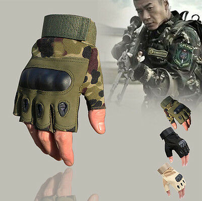 7121 Outdoor Military Tactical Half Finger Gloves Hunting Riding Cycling Protect
