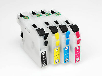 Empty Refillable Lc225Xl Lc-225Xl Ink Cartridges Brother Dcp-J4120Dw Mfc-J4420Dw