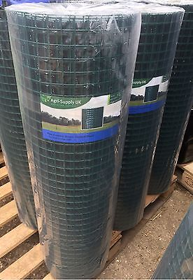 """0.9m x 25m PVC COATED WELDED WIRE MESH 1""""x 1"""" Garden Fence 1.4mm GA 17 Fencing"""