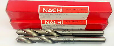 Set Of 2 Nachi 9/16 Silver And Deming Drill List 575 High Speed Steel  Japan