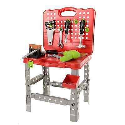 Childrens Pretend Pack Away DIY Work Bench Includes Pretend Drill Toy 3+ Years