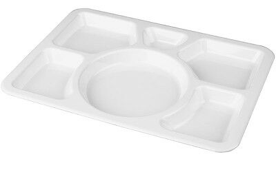 TemoWare Polycarbonate Food Compartment Tray White 400(L) x 280(W) x 30(D)mm