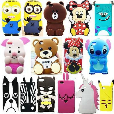 New 3D Cute Cartoon Soft Silicone Back Rubber Cover Case For Huawei Phone