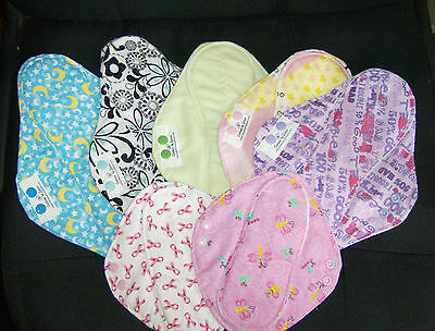 Little Bee Creations Cloth Menstrual Mama Pad Med Starter Set: you pick fabric