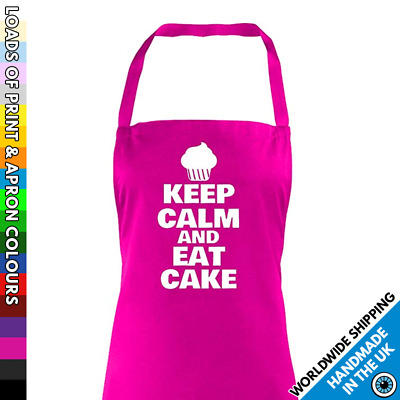 Keep Calm And Eat Cake Apron - Cook Baker Foodie Chef - Cupcake Inspired New