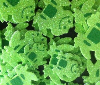50 GLITTER FOAM STICKERS GREEN FROGS-20mm-35mm-GREAT FOR DECORATING/SCRAPBOOKING