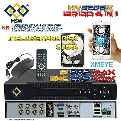 Dvr Nvr 8 Canali Professionale Ahd 1080N 1080P P2P Webserver Wifi  Full Hd