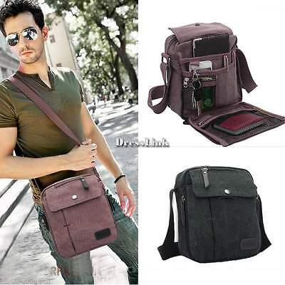 ♥♥ Uomo Borsa Borsello a Tracolla Porta Mini in Canvas tracolla Casual Bag Moda