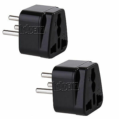 2pcs Travel Universal Plug Adapter Type H for Israel 3 Pin Standard for TV BOX